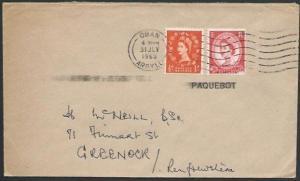 GB SCOTLAND 1963 cover scarce OBAN PAQUEBOT................................88703