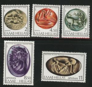 GREECE Scott 1176-1180 MNH** 1976  set