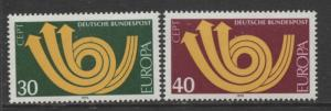 GERMANY. -Scott 1114-115- Europa Issue - 1973- MNH - Set of 2 Stamps