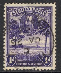 SIERRA LEONE SG156 1932 1d VIOLET USED