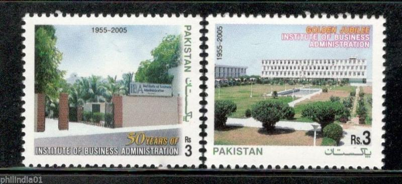 Pakistan 2005 Institute of Business Administration Karachi Sc 1064-65 MNH # 4222