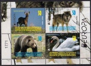 MACEDONIA 2021 EUROPA CEPT BIRDS WILD ANIMALS OISEAUX VOGEL [#2103]