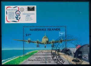 [68362] Marshall Islands 1986 Aeroplanes Mail Delivery Souvenir Sheet Used CTO