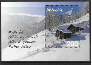 2013    SWITZERLAND  -  SG.  MS 1997  -  MATTER VALLEY  -  MNH