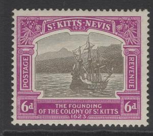 ST.KITTS-NEVIS SG54 1923 6d BLACK & BRIGHT PURPLE MNH