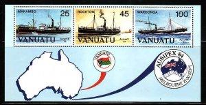Vanuatu-Sc#379a- id7-unused NH sheet-Ships-1984-
