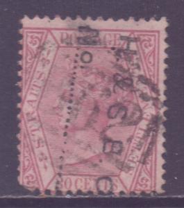 Straits Setts Scott 16 - SG17, 1867 Crown CC 30c used
