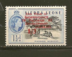 Sierra Leone C2 Independence Airmail Mint Hinged
