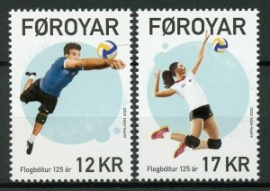 Faroe Islands Faroes Sports Stamps 2020 MNH Volleyball 125 Years 2v Set