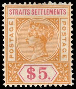 Straits Settlements Scott 43-88 Gibbons 95-105 Mint Set of Stamps