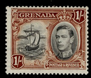 GRENADA GVI SG160a, 1s black and brown, LH MINT.