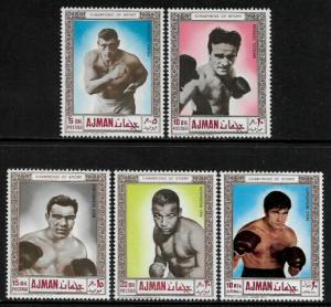 Ajman Michel #382-6 MNH Set - Boxing