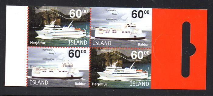 Iceland Sc 991 2003 60 k Ferry Boats stamp booklet mint NH