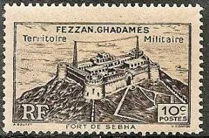 Libya-Fezzan Ghadames 1N1 Mint OG 1946 Fort Sebha