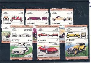 St. Vincent, 687-92, Classic Cars Pairs, MNH