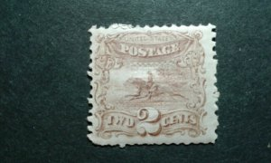 US #113 mint hinged (part gum) crease e206 10216