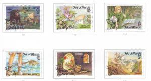Isle of Man Sc 738-43 1997 Europa Legends stamp set used