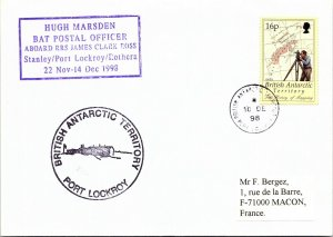 BRITISH ANTARCTIC TERRITORY ARCTIC ANTARCTIC POLAR CANCEL / CACHET #104