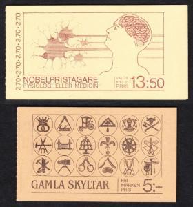 SWEDEN — SCOTT 1525a,1550a — 1984-85 BOOKLETS — MNH — SCV $9.00