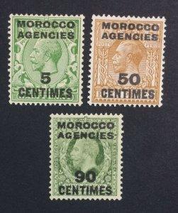 MOMEN: MOROCCO AGENCIES SG #202,207,209 VAR. 1925-34 MINT OG H LOT #226259-5407