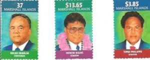 Marshall Islands - Politicians - 3 Stamp Set - 13q-023