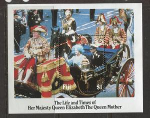 Fiji - Scott 535 - Queen Mother Issue -1985 - MNH -Souvenir Sheet