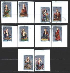 Vietnam. 1978. 974u-83u. Figurines. USED.