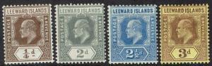 LEEWARD ISLANDS 1907 KEVII RANGE TO 3D