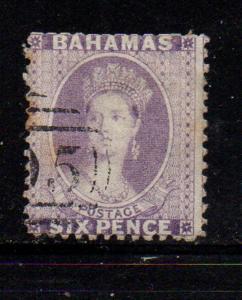 Bahamas Sc 14 1863 6d dark violet Victoria stamp used