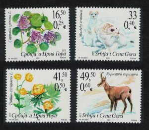 Serbia and Montenegro Flora and Fauna 4v SG#112-115
