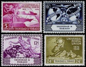 Trinidad & Tobago Scott 66-69 (1949) Mint H VF Complete Set M