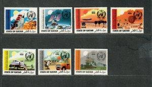 Qatar Sc#347-353 M/NH/VF, Cv. $38