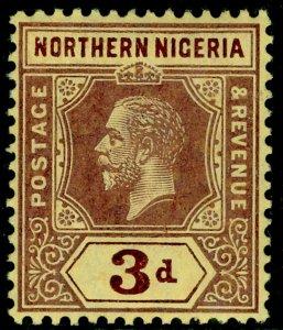NORTHERN NIGERIA SG43, 3d purple/yellow, M MINT.