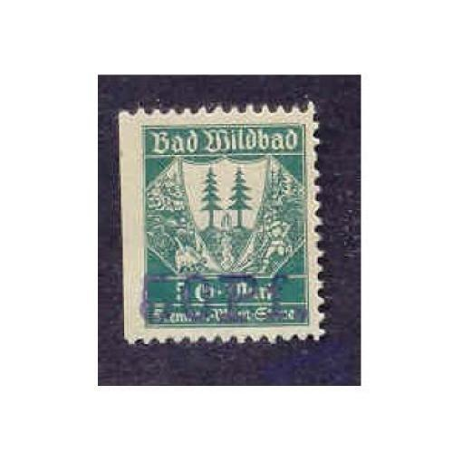 Germany - Bad Wildbad 5DM50 pfg Municipal Revenue Stamp