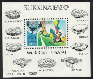 Burkina Faso World Cup Football Championship USA MS SG#MS1080 MI#Block 141