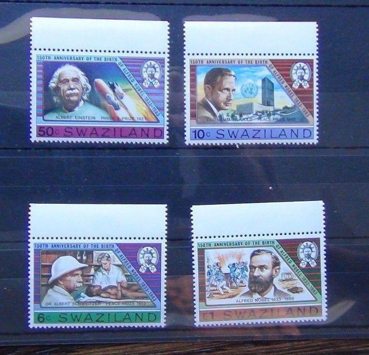 Swaziland 1983 150th Anniversary of Alfred Nobel set MNH