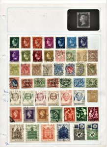 STAMP STATION PERTH Netherlands #50 Used on Album Page - Unchecked