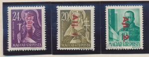 Hungary Stamps Scott #F1 To F3, Mint Hinged, Registration Set - Free U.S. Shi...