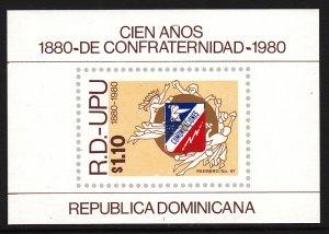 Dominican Republic C326 UPU Souvenir Sheet MNH VF