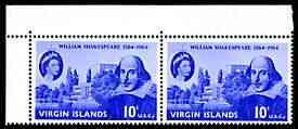 British Virgin Islands 1964 400th Birth Anniversary of Sh...