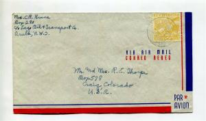 Curacao to USA Airmail Cover - 1940