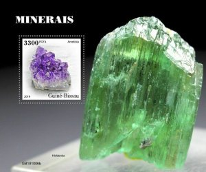 Z08 IMPERF GB191006b GUINEA BISSAU 2019 Minerals MNH ** Postfrisch