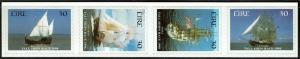 Ireland 1145A-D Self-adhesive Strip MNH - Tall Ships Race Sailing Ships - 1998