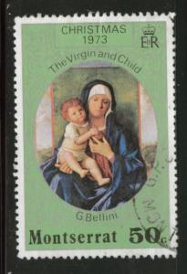 Montserrat Scott 298 1973 Christmas stamp Used CV$0.95