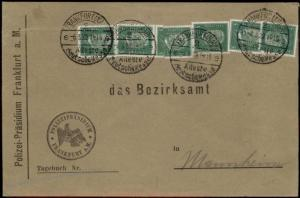 Germany Frankfurt Polizei POL Lochung Police Perfin Official Cover 59969