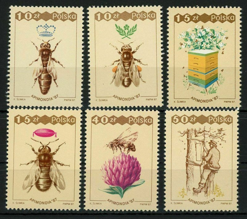 Poland MNH Set Bees Insects 1989