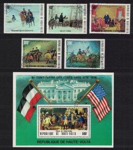 Upper Volta America 5v+MS 1976 CTO SC#367A MI#569-573+Block 34