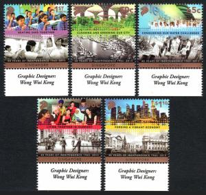 Singapore 1614-1618, MNH. Independence, 48th anniv. 2013