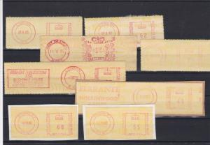 Great Britain Different Cancels & Slogans Meter Mail Stamps Label Items Ref27624