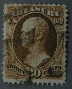United States #O81 30 Cent Treasury Revenue Used
